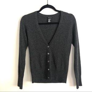 Theory 100% cashmere dark gray cardigan